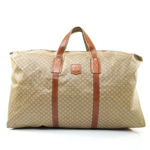 Auth Celine Travel Bag Coated Canvas #7829C68